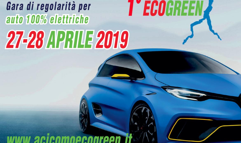 1° ACI Como ECO Green, al via il 27-28 Aprile 2019 la competizione per auto elettriche, ibride, bi-fuel.