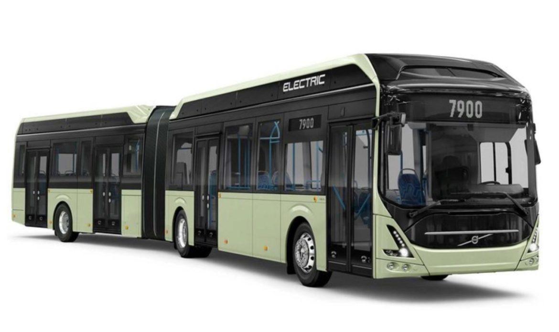Autobus elettrico articolato Volvo verrà presentato ad ottobre.