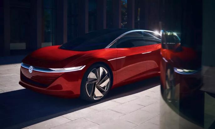 Al Salone di Los Angeles, Volkswagen mostra il concept Volkswagen ID. Space Vizzion costruito su piattaforma MEB.