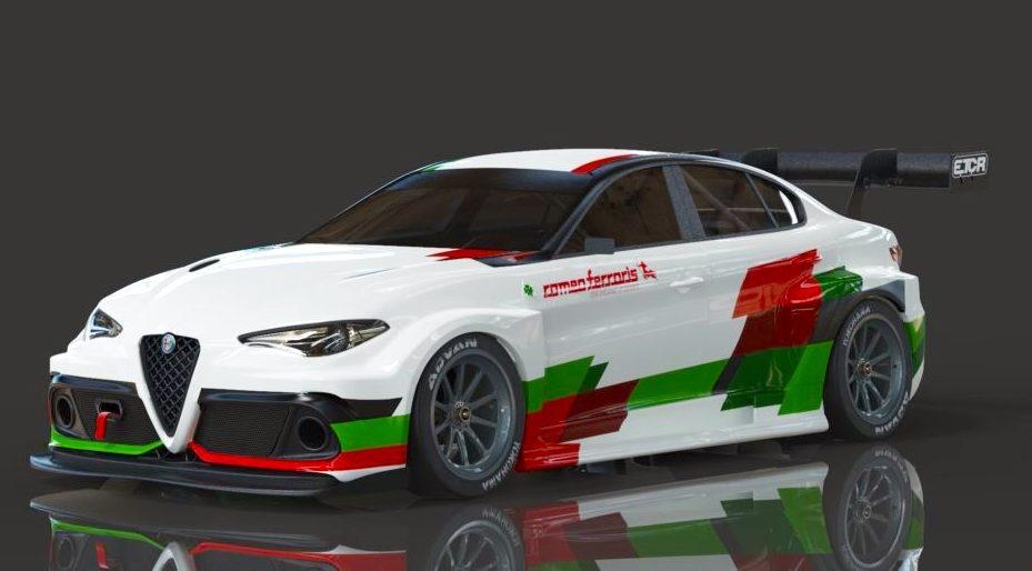 Alfa Romeo Giulia al via dell'ETCR con Romeo Ferraris