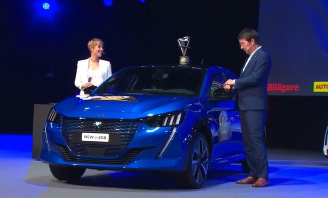 Peugeot 208 eletta auto dell'anno 2020