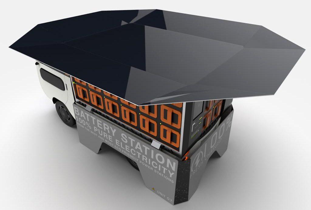 eBussy è il furgone elettrico modulabile con 4 motori e ricarica tramite pannelli solari sul tetto.