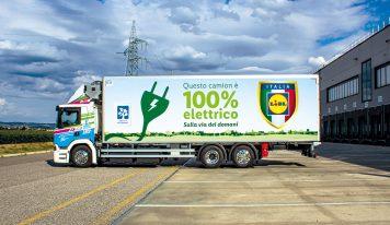Lidl Italia introduce il primo camion elettrico SCANIA in flotta